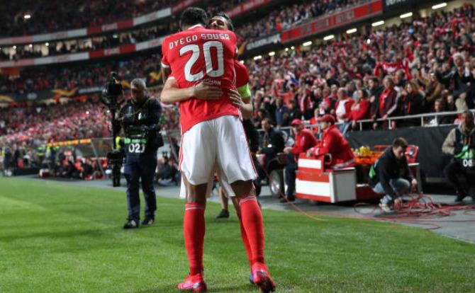 Dyego Sousa estreou-se a titular pelo Benfica