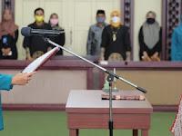 Riaana Sari Lantik Winarni Sebagai Ketua Tim Penggerak PKK Lamsel