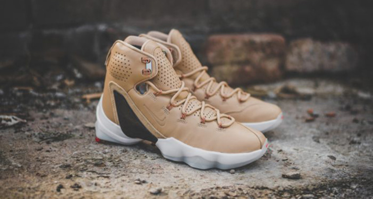 hot sale online a167a 0c71d Nike Lebron 13 Elite in Tan Leather | Analykix