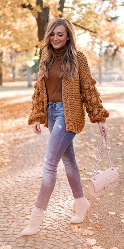 24 Cute Fall Outfits You Should Already Own. Clinch the waist with chunky belts and slip into shimmery satin and silk outfits, because these cute fall clothing are a staple this season. Fall Fashion via higiggle.com | cardigan | #fall #falloutfits #style #cardigan