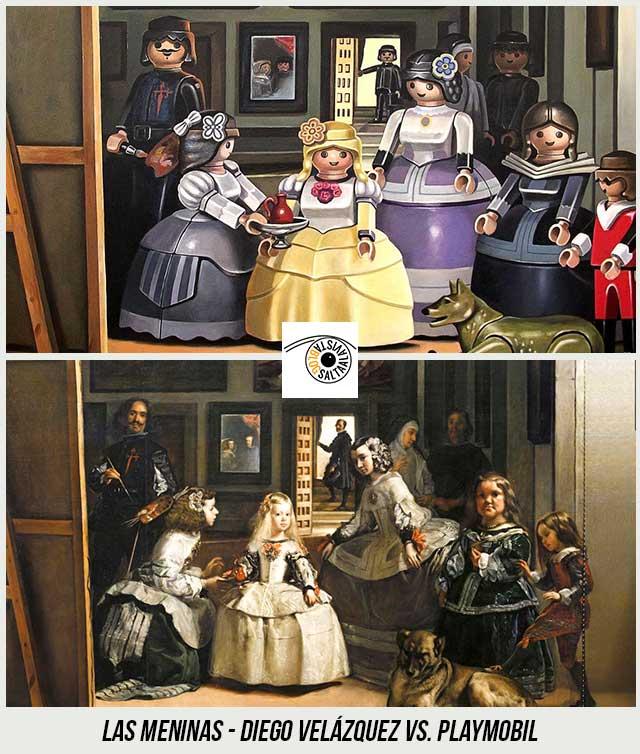 Cuadro-Las-Meninas-de-Diego-Velázquez-Hecho-con-Playmobil