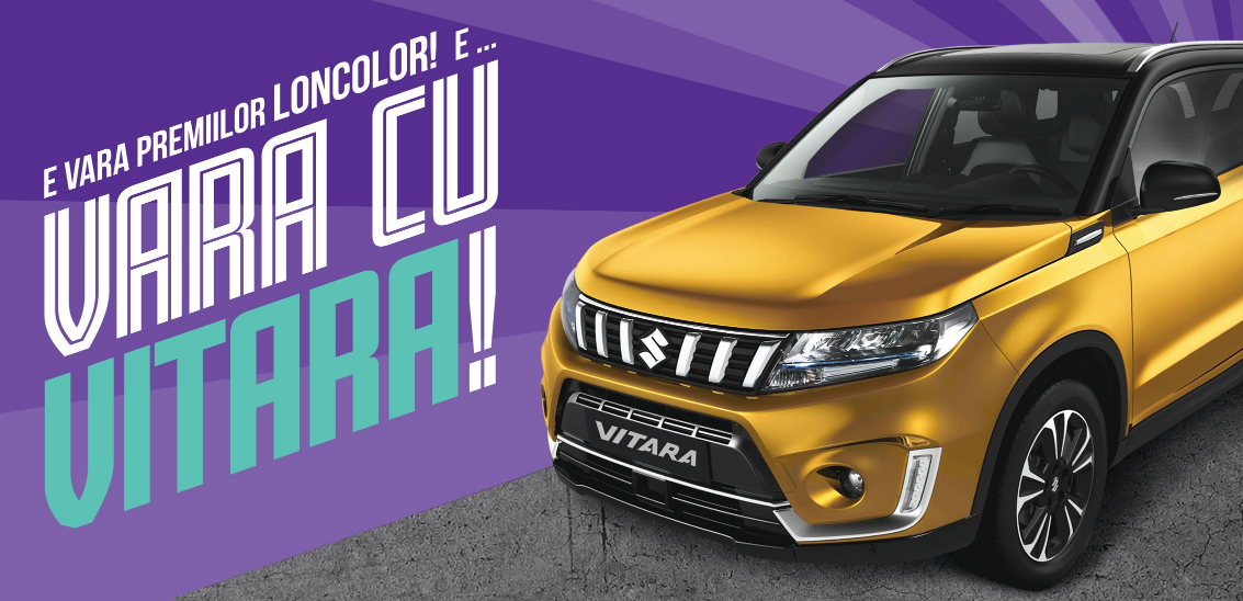 Concurs LONCOLOR - Castiga o masina SUZUKI VITARA 1,4 PASSION 2WD HYBRID - online - premii - castiga.net