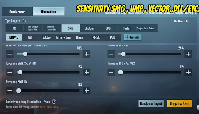 Lanjutan dari Sensitivitas Kamera SMG PUBG
