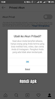 cara private akun ig