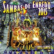Capa do CD 2015 das Escola de Samba do Rio, aquelas que fazem a maior  festa popular do mundo.