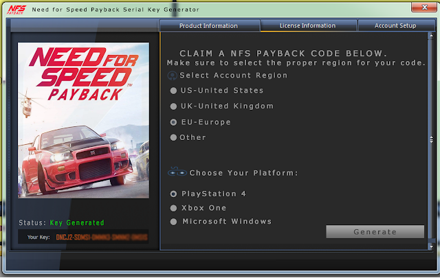 need for speed payback origin activation key