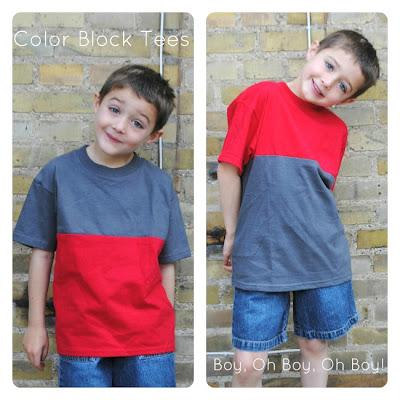 Color Block Tshirts Tutorial