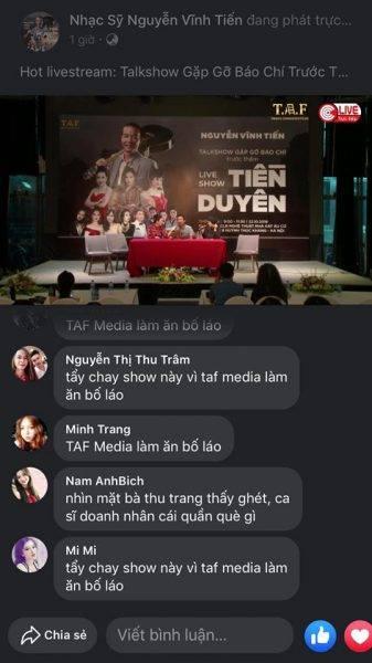 Liveshow có sự tham gia của Mỹ Linh (có biệt phủ phá rừng) bị khán giả tẩy chay