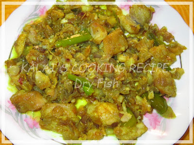 Sun-Dried Salted Seer Fish Dry Onion Gravy / Vanjaram Karuvadu
