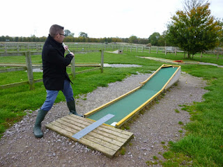 Crazy Golf at Mead Open Farm in Billington