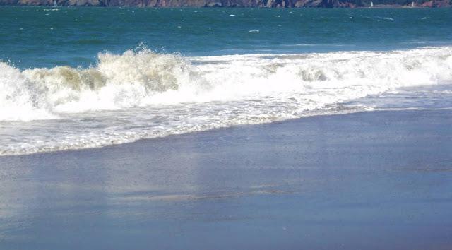 onda do mar azulada
