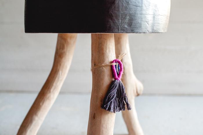 wooden tree stool