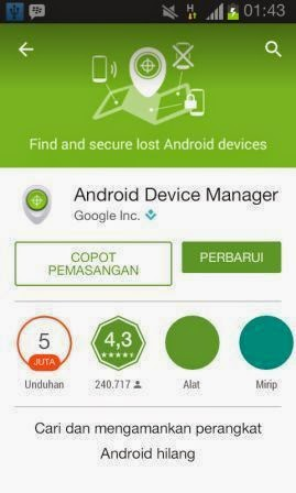 Cara Melacak HP Android Yang Hilang Dengan Aplikasi Android Device Manager
