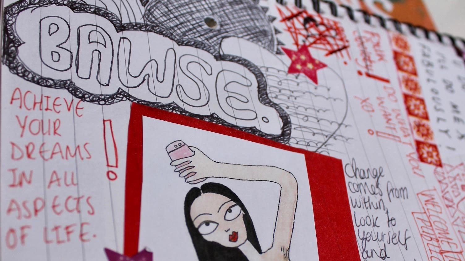 Creative Art Journal Bawse Entry