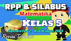 RPP dan Silabus Matematika Kelas 5 SD Semester 2 Kurikulum 2013 Revisi 2017