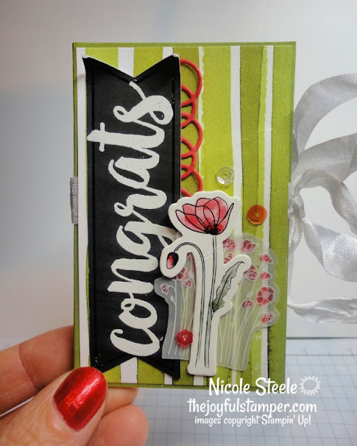 gift card holder | gift card folio | peaceful poppies elements | stampin up | Nicole Steele The Joyful Stamper | painted poppies designer series paper