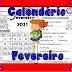 CALENDÁRIO 2021 PARA IMPRIMIR - FEVEREIRO