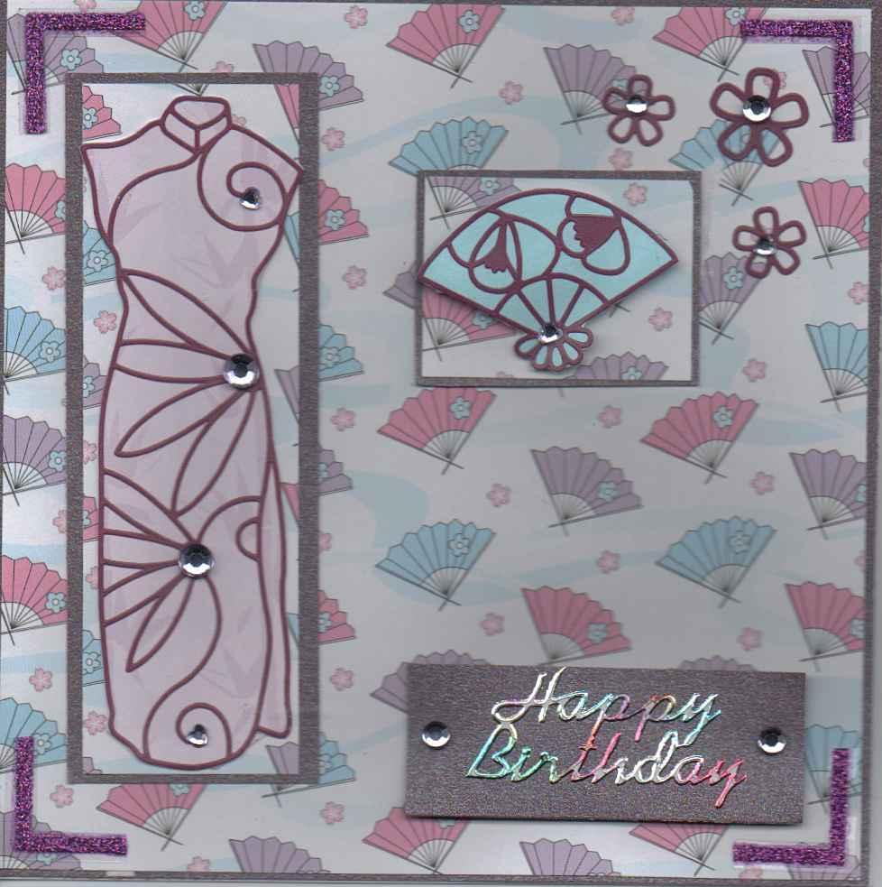 filovescrafting japanese theme birthday card
