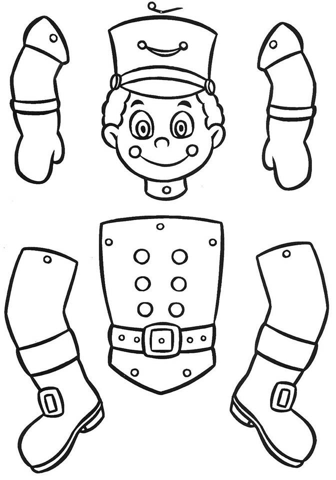 marioneta soldado colorear