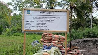 Pembangunan Cor Jalan Dusun Sukasari RT 02 RW 05 Desa Mekarsari