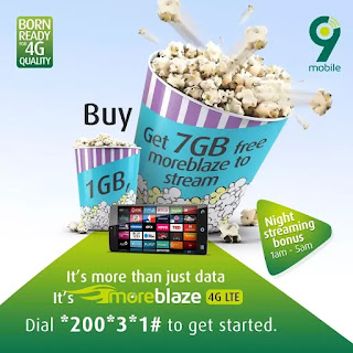 9MOBILE IS CURRENTLY OFFERING A HUGE 7GB FREE DATA