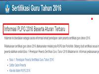 Informasi PLPG Oktober 2016 Beserta Aturan Terbaru Yang Wajib Anda Tahu
