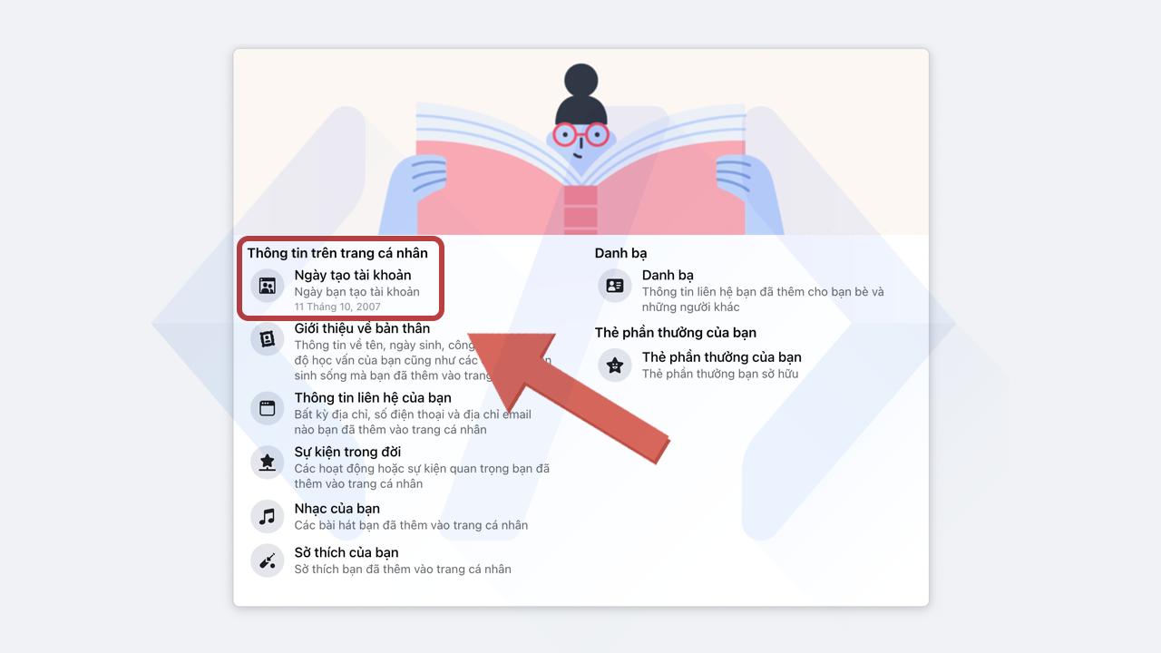 Cách xem ngày tháng năm tạo tài khoản Facebook cách 2 bước 2