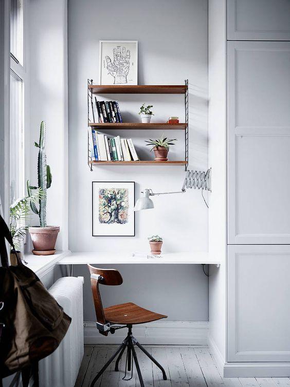 minimalist home working space decoration