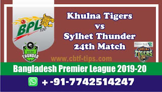 Who will win Today BPL T20, 24th Match Sylhet vs Khulna - Cricfrog
