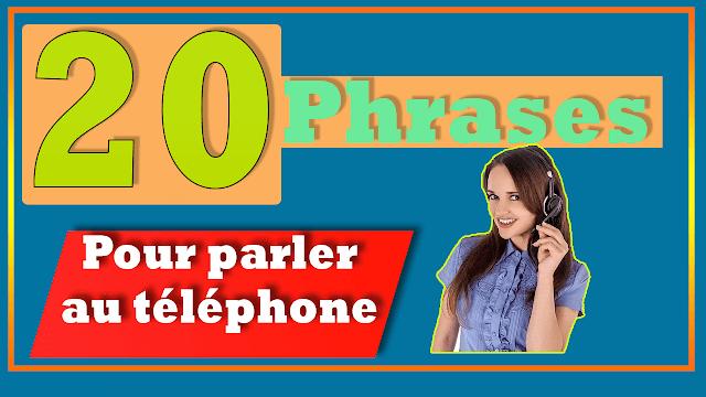 phrases faciles pour communiquer au téléphone