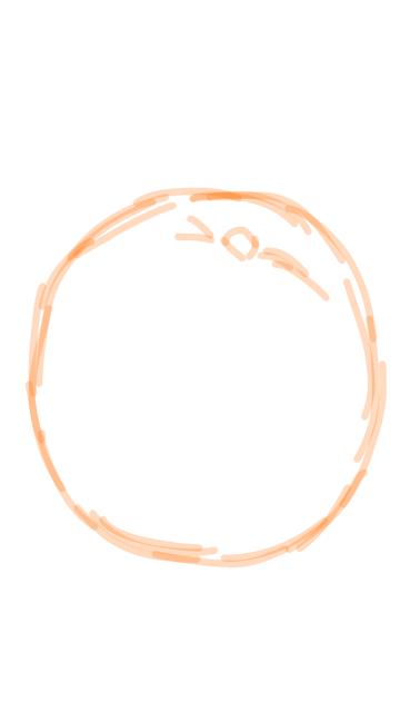 How do you draw a orange step by step?