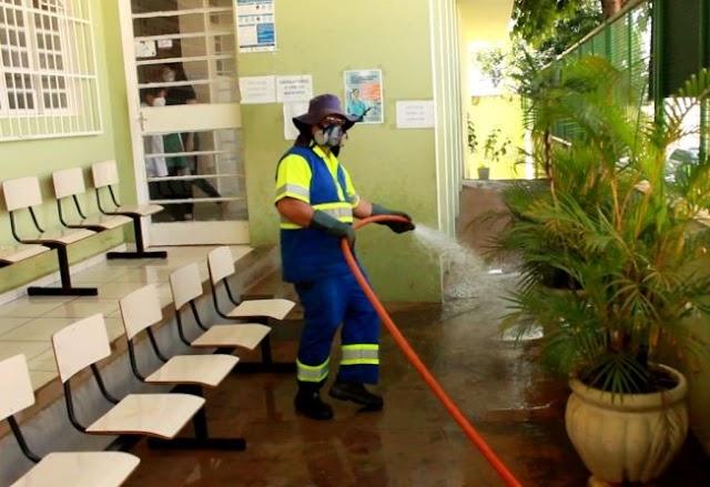 Ação contra a Covid-19: sanitização de áreas de grande fluxo de pessoas EM TAQUARITUBA