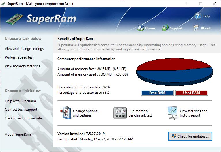 SuperRam v7.5.27.2019 Full version