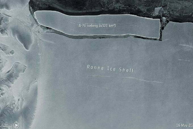 Iceberg 3 vezes maior que a cidade de SP se desprende da Antártica