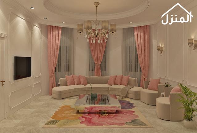 صور ديكور مجلس نساء باللون الوردي - الزهري