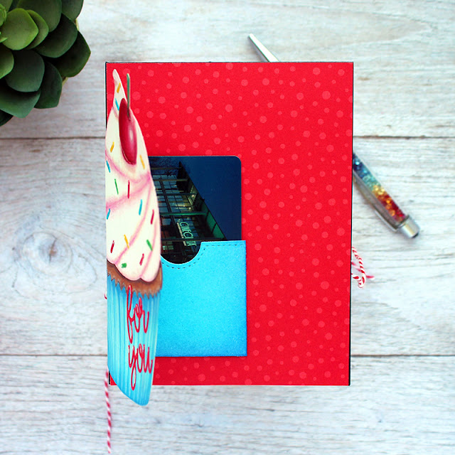 Sunny Studio Stamps: Gift Card Pocket Dies Cupcake Shaped Dies Birthday Card by Vanessa Menhorn