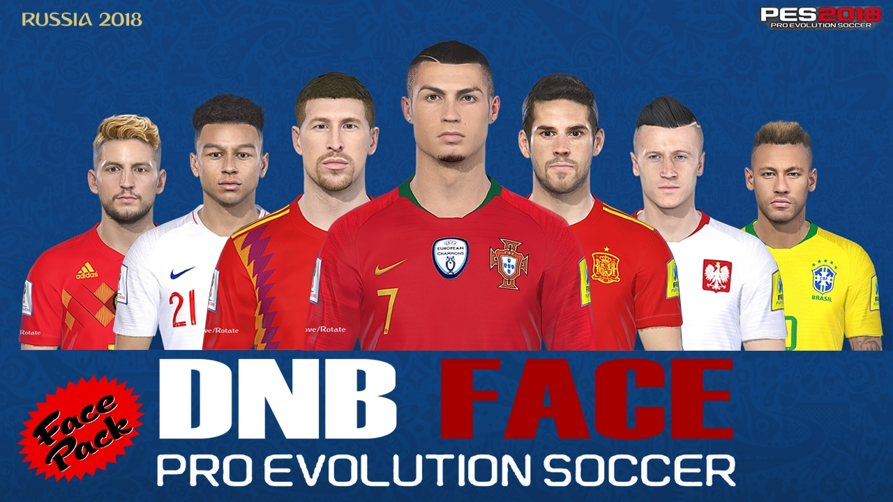 PES 2018 Face Pack V1 by DNB Face