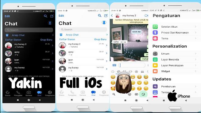 Cara merubah WhatsApp Wa Jadi Iphone Terbaru 2021
