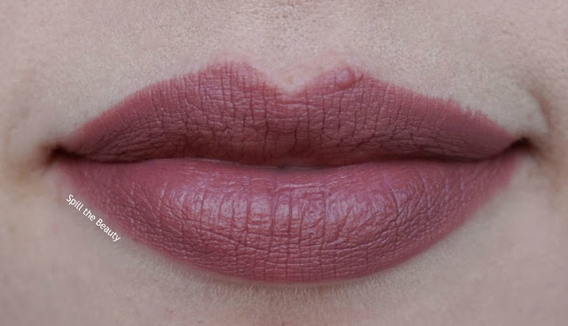Stila stay all day matteificent lipstick brulee review swatches lip swatch