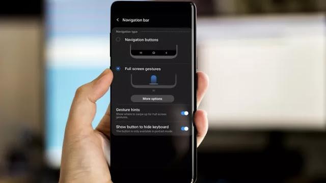 كيفية إخفاء شريط التنقل في واجهة Samsung One UI