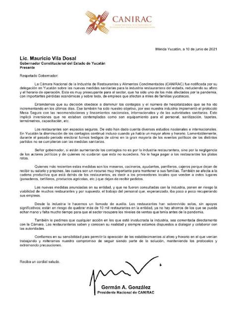 Aumento de contagios del COVID19 es por negligencia: CANIRAC Nacional a Vila