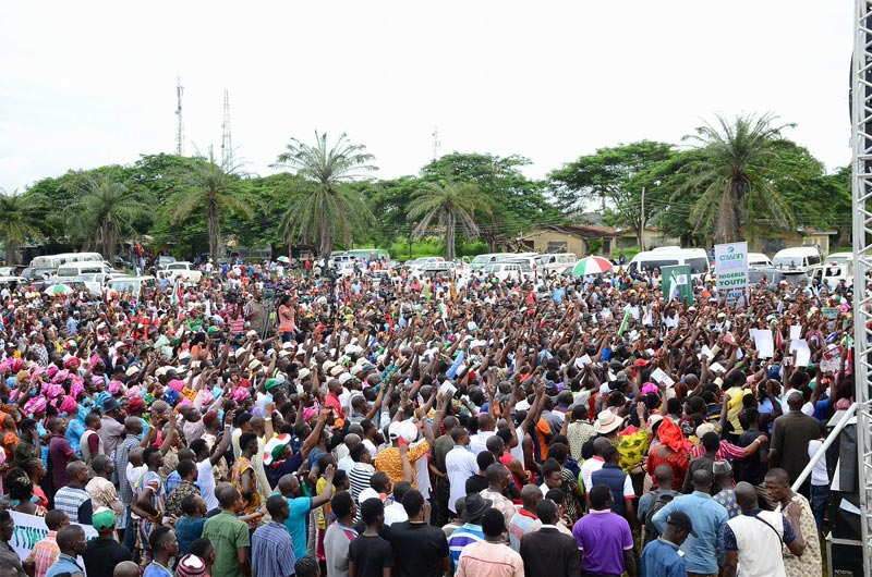 2016 Edo elections: See crowd at PDP campaign in Ovia North East LGA today
