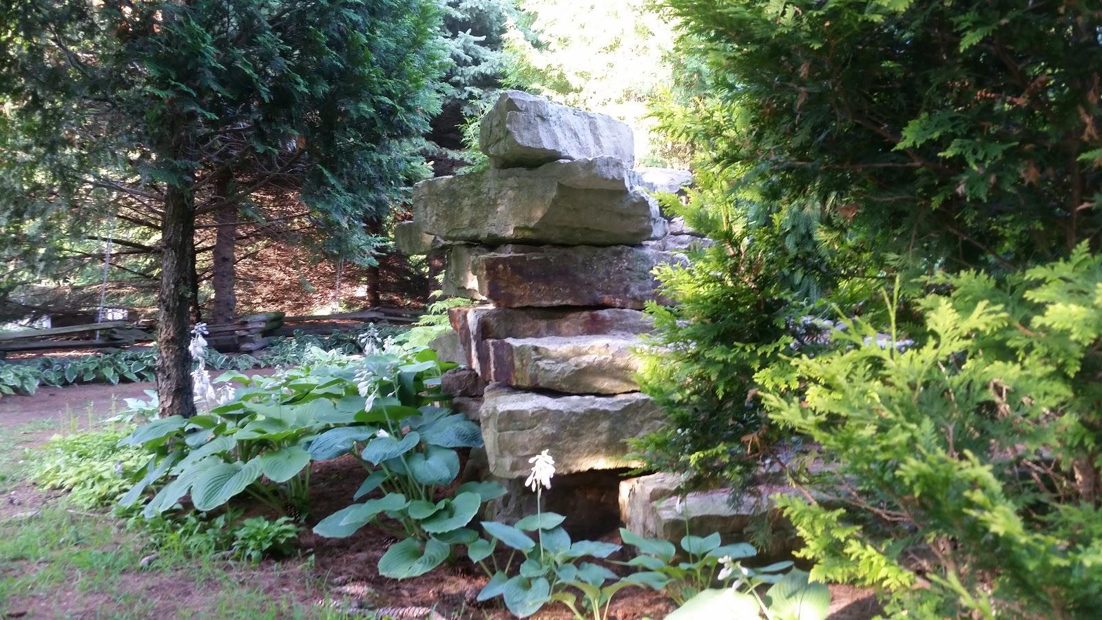 Quarry Shade Garden At Bon Air Park: Quarry Garden Stained Glass