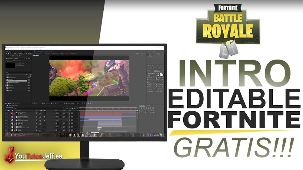 Intro Editable Fortnite GRATIS Y IMPACTANTE + Tutorial (After Effects)