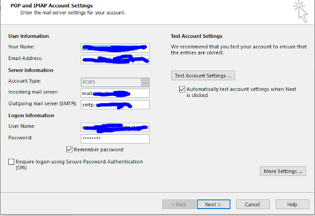 Konfigurasi Email POP 3