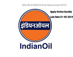 IOCL RO & CRM Recruitment 2019- Apply for 25 Post