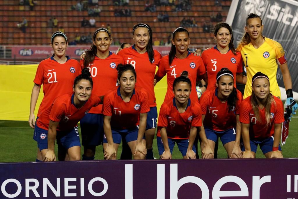 Formación de selección femenina de Chile ante Costa Rica, Torneio Uber Internacional de Futebol Feminino de Seleções, 29 de agosto de 2019