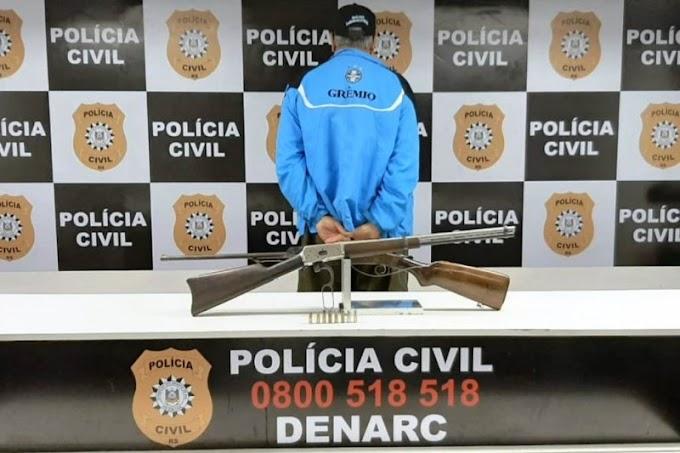 Homem é preso em flagrante por posse irregular de arma de fogo em Gravataí