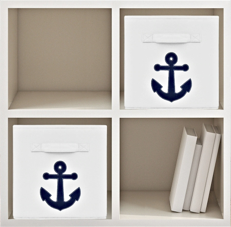 Nautical Storage Bins Foldable