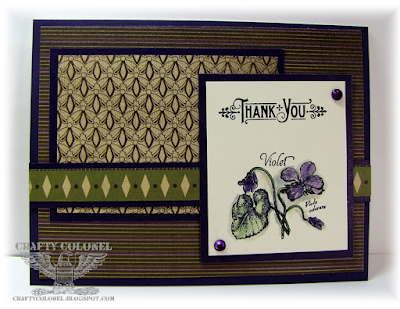 Crafty Colonel Donna Nuce for Cards in Envy Challenge blog, Hampton Art G45 Time to Flourish Stamps.